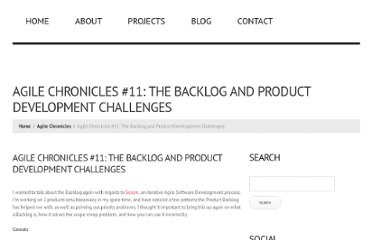 http://jessewarden.com/2010/07/agile-chronicles-11-the-backlog-product-development-challenges.html