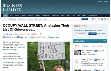 http://www.businessinsider.com/occupy-wall-street-analyzing-their-list-of-demands-2011-10