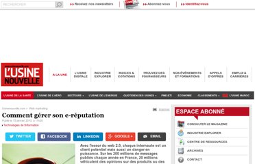 http://www.usinenouvelle.com/article/comment-gerer-son-e-reputation.N124556