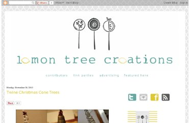 http://lemontreecreations.blogspot.com/2010/11/twine-christmas-cone-trees.html