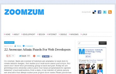 http://zoomzum.com/22-awesome-admin-panels-for-web-developers/