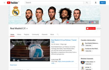 http://www.youtube.com/user/realmadridcf