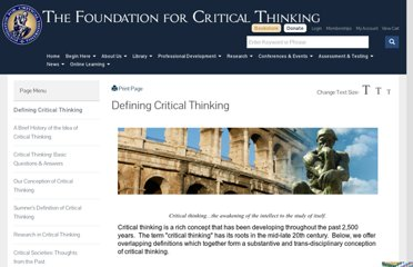 http://www.criticalthinking.org/pages/defining-critical-thinking/766