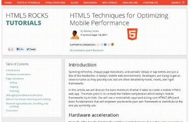 http://www.html5rocks.com/en/mobile/optimization-and-performance.html