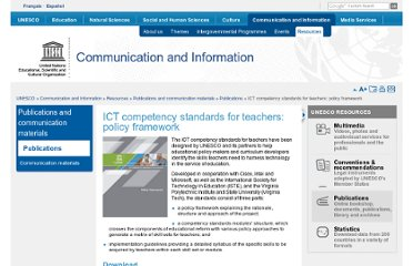 http://www.unesco.org/new/en/communication-and-information/resources/publications-and-communication-materials/publications/full-list/ict-competency-standards-for-teachers-policy-framework/