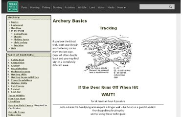 http://www.tpwd.state.tx.us/learning/hunter_education/homestudy/archery/archtrack.phtml