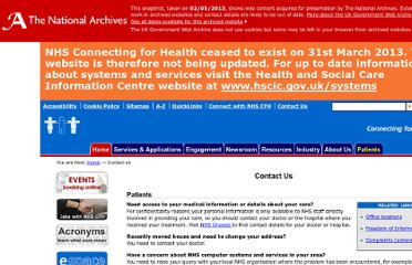 http://www.connectingforhealth.nhs.uk/contact