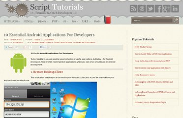 http://www.script-tutorials.com/10-essential-android-applications-for-developers/