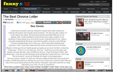 http://www.funnyordie.com/articles/0baecd3004/the-best-divorce-letter