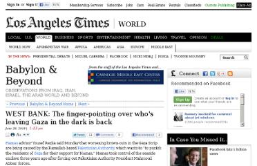 http://latimesblogs.latimes.com/babylonbeyond/2010/06/west-bank-the-finger-pointing-over-whos-leaving-gaza-in-the-dark-is-back.html