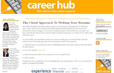 http://www.careerhubblog.com/main/2010/07/the-cloud-approach-to-writing-your-resume.html