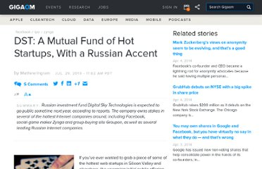 http://gigaom.com/2010/07/29/dst-a-mutual-fund-of-hot-startups-with-a-russian-accent/