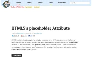 http://davidwalsh.name/html5-placeholder