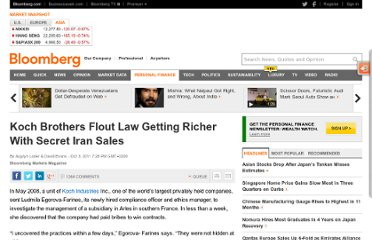 http://www.bloomberg.com/news/2011-10-02/koch-brothers-flout-law-getting-richer-with-secret-iran-sales.html