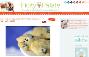 http://picky-palate.com/2010/08/19/honeyed-banana-berry-cake-cookies-4-ingredients/
