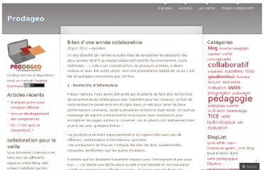 http://prodageo.wordpress.com/2010/06/25/bilan-dune-annee-collaborative/