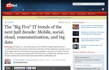 http://www.zdnet.com/blog/hinchcliffe/the-big-five-it-trends-of-the-next-half-decade-mobile-social-cloud-consumerization-and-big-data/1811