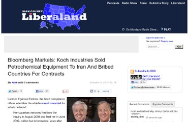 http://www.alan.com/2011/10/03/bloomberg-markets-koch-industries-sold-petrochemical-equipment-to-iran-and-bribed-countries-for-contracts/