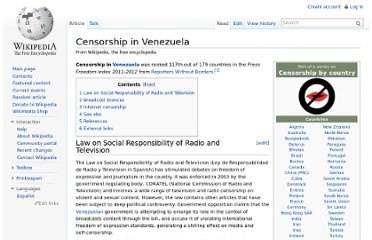 http://en.wikipedia.org/wiki/Censorship_in_Venezuela