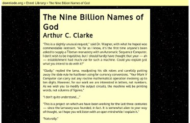 http://downlode.org/Etext/nine_billion_names_of_god.html