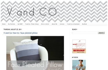 http://www.vanessachristenson.com/2011/08/v-and-co-how-to-faux-pleated-pillow.html