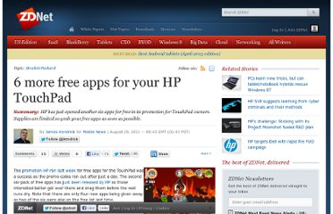http://www.zdnet.com/blog/mobile-news/6-more-free-apps-for-your-hp-touchpad/4074