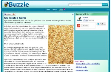 http://www.buzzle.com/articles/granulated-garlic.html