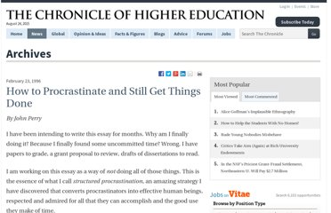 http://chronicle.com/article/How-to-ProcrastinateStill/93959