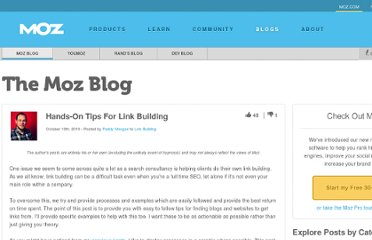 http://www.seomoz.org/blog/hands-on-tips-for-link-building