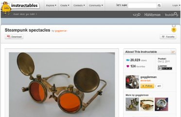 http://www.instructables.com/id/Steampunk-spectacles/
