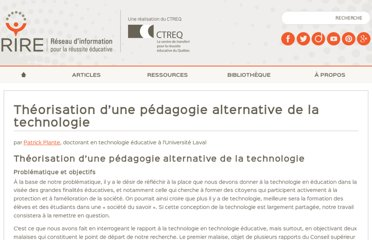 http://rire.ctreq.qc.ca/theorisation-dune-pedagogie-alternative-de-la-technologie/