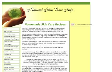 http://www.natural-skin-care-info.com/homemade-skin-care-recipes.html