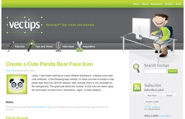 http://vectips.com/tutorials/create-a-cute-panda-bear-face-icon/