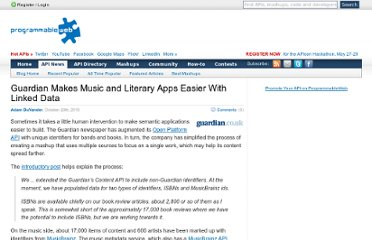 http://blog.programmableweb.com/2010/10/20/guardian-makes-music-and-literary-apps-easier-with-linked-data/