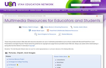 http://www.uen.org/general_learner/multimedia_resources.shtml
