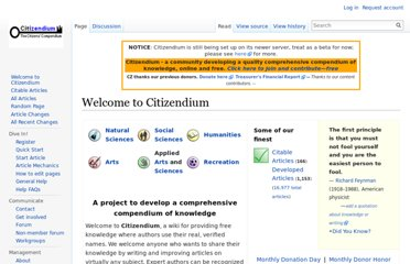 http://en.citizendium.org/wiki/Welcome_to_Citizendium