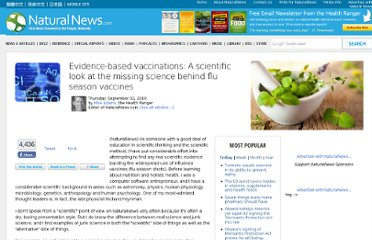 http://www.naturalnews.com/029641_vaccines_junk_science.html