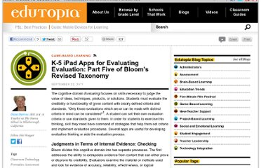 http://www.edutopia.org/blog/ipad-apps-elementary-blooms-taxomony-evaluating-evaluation-diane-darrow
