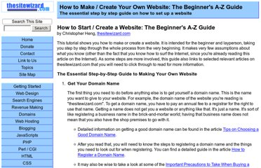http://www.thesitewizard.com/gettingstarted/startwebsite.shtml