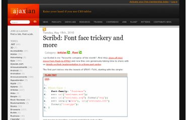 http://ajaxian.com/archives/scribd-font-face-trickery-and-more