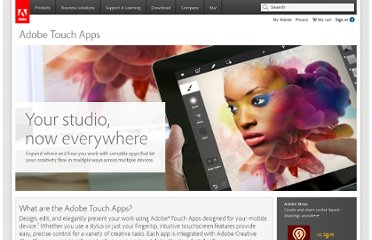 http://www.adobe.com/products/touchapps.html