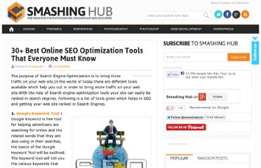 http://smashinghub.com/30-best-online-seo-optimization-tools-that-everyone-must-know.htm
