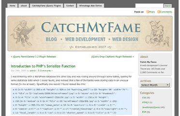 http://www.catchmyfame.com/2009/09/29/introduction-to-php%e2%80%99s-serialize-function/
