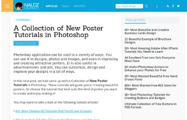 http://naldzgraphics.net/tutorials/a-collection-of-new-poster-tutorials-in-photoshop/