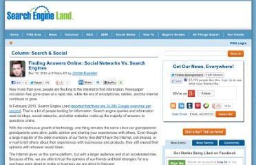 http://searchengineland.com/finding-answers-online-social-networks-vs-search-engines-56343
