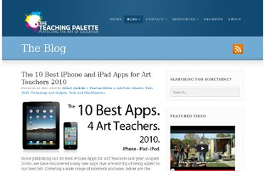 http://theteachingpalette.com/2010/12/13/the-10-best-iphone-and-ipad-apps-for-art-teachers-2010/