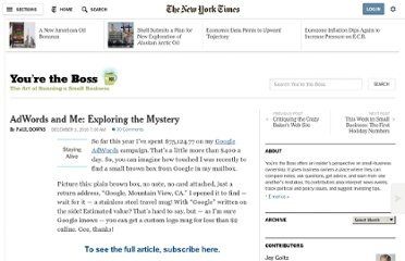 http://boss.blogs.nytimes.com/2010/12/03/adwords-and-me-exploring-the-mystery/