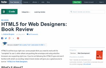 http://net.tutsplus.com/articles/reviews/html5-for-web-designers-book-review/