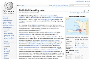 http://en.wikipedia.org/wiki/2010_Haiti_earthquake