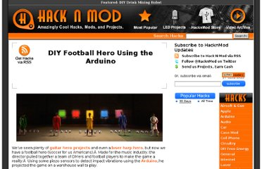 http://hacknmod.com/hack/diy-football-hero-using-the-arduino/